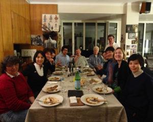 在仏日本人宅で懇親会